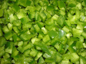 diced green pepper - photo #12